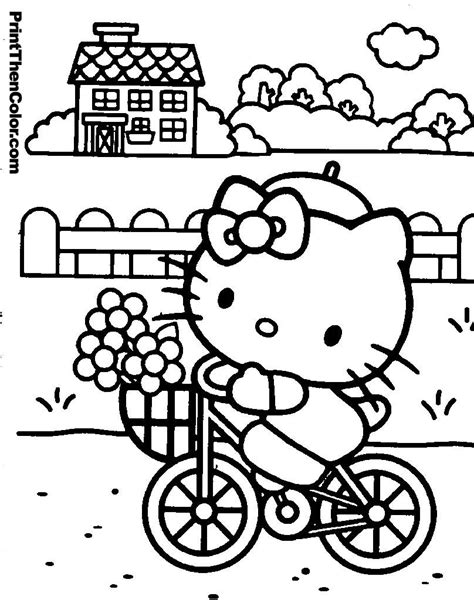 hello kitty with flowers coloring pages hello kitty coloring pages to print printables