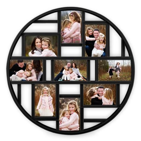 how to make a collage picture frame photo gallery 9 circle collage frame collage picture