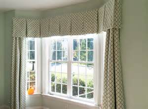 window box treatments bay window box pleated valance panels sewinit