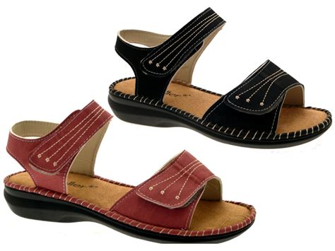 ladies comfort sandals womens low wedge wide comfort cushioned sandals summer
