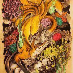 zorro tattoo oriental kitsune tattoo unknown artist tattoo77 studio