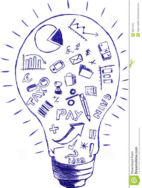 doodle draw dodle accounting stock illustration image 38911634