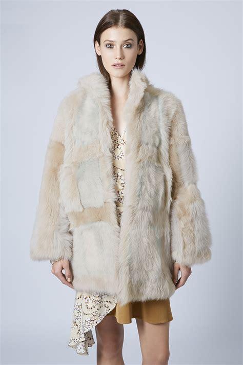 Topshop Patchwork Dress - topshop unique shearling coat 183 pie fash