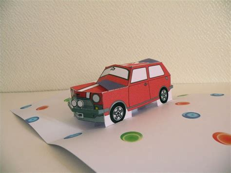Pop Up Car Card Template by Mini Car Popup Card By Popzecret On Deviantart