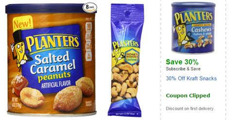 amazon planters nuts 30 off coupons 4 utah