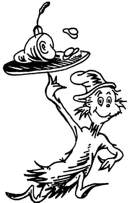 dr seuss coloring pages for toddlers cat in the hat hat coloring pageskidsfreecoloring net