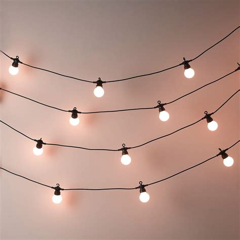 Bistro Bulb Fairy Lights 20 Bulbs The White Company Bulb String Lights
