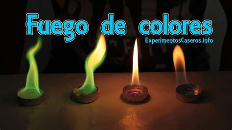 experimentos faciles fuego de colores experimentos de qu 237 mica experimentos