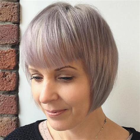 Over 60 Hair Styles With Platinum High Lights   short layered bob for women over 60 with platinum