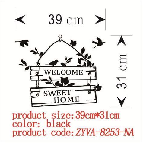 Sticker Wallpaper Dinding Welcome Sweet Home sticker wallpaper dinding welcome sweet home black jakartanotebook