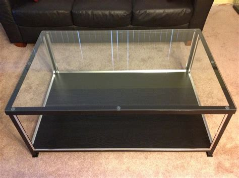 coffee table display glass top ikea coffee table