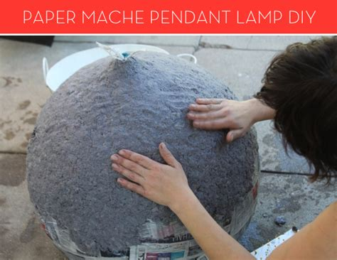 How To Make A Paper Light Bulb - how to make a modern paper mache l curbly