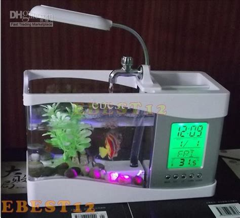 fish tank for desk at work 2017 usb desk mini aquarium fish tank with calender pen holder with pumming to auto cycling