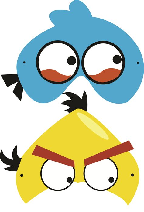 printable parrot mask angry birds free printable masks angry birds pinterest