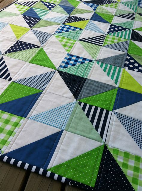 Modern Patchwork Quilt Patterns - pdf pattern for geometric modern cot crib patchwork quilt in