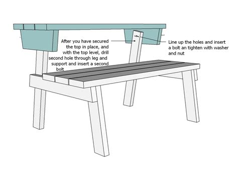 ana white picnic table bench convertible picnic table plans 11emerue