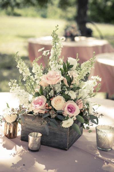 wooden box wedding centerpieces  rustic