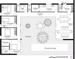 plan en u avec 4 chambres ooreka