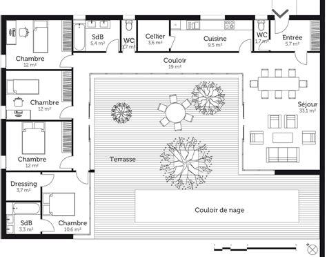Maison En U Avec Patio by Plan De Maison En U Avec Patio Om91 Jornalagora