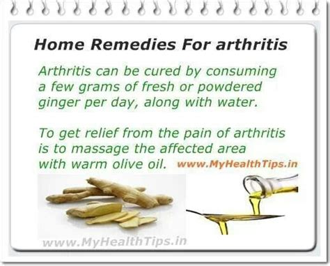 home remedies for arthritis health tips