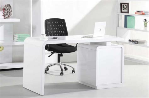 White Gloss Office Desk White Home Office Desk Design Ideas That Will Suit Your Work Style Home Interior Exterior