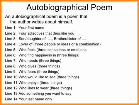 what is a biography for students 5 bio poem about yourself model resumed pertaining to