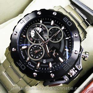 Best Seller Alexandre Christie Ac 8457 Pria Silver White Original ac 9205mc black silver jam ac collectionterbaru