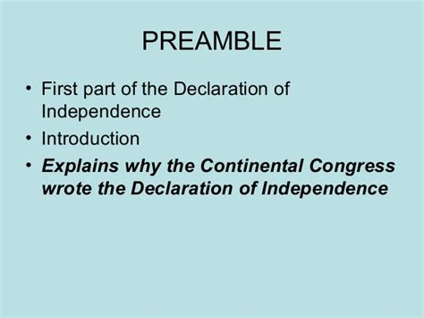 what are the four sections of the declaration of independence declaration of independence