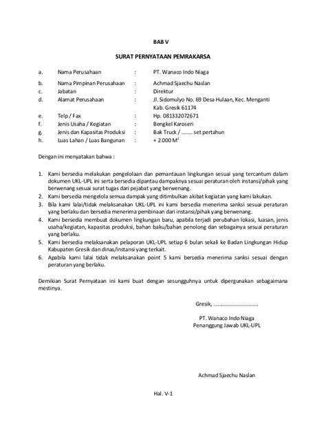 format laporan ukl upl contoh surat pengantar laporan ukl upl