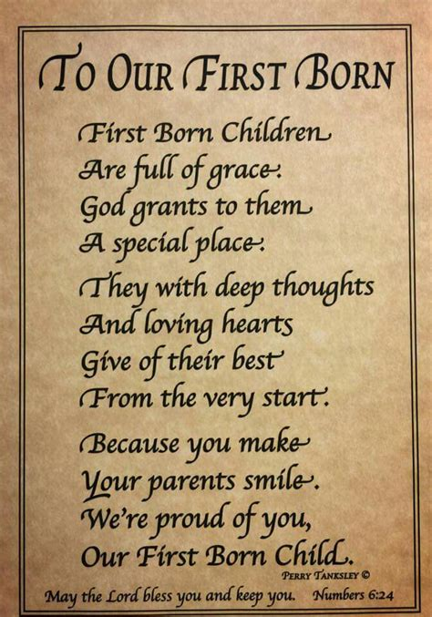 Birthday Quotes For Born First Born Child Poem I Am The First Born Of My Parents