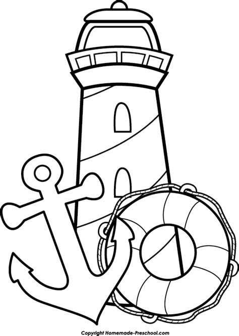 coloring pages lighthouse free printable free lighthouse clipart