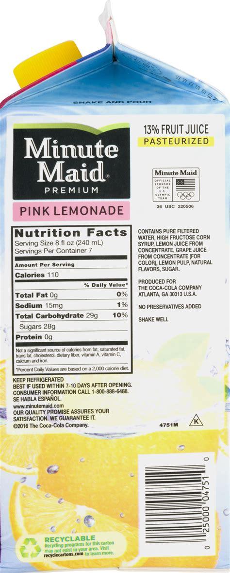 Tropicana Pink Lemonade Nutrition Facts Besto