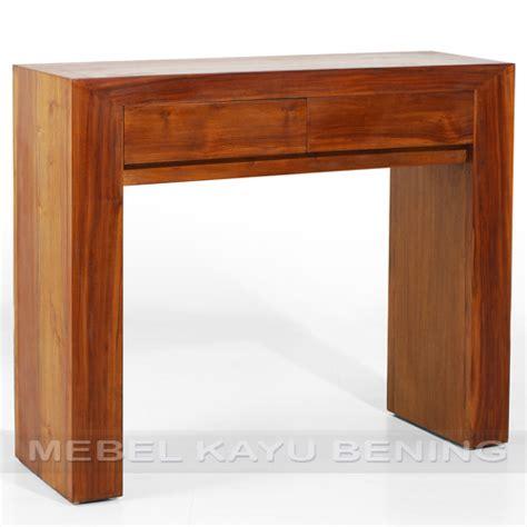 Jual Meja Console Jati 2 Laci Meja Minimalis Produk Jepara meja konsol kayu jati model minimalis blok 2 laci