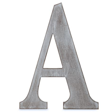 Letter Grey Wood Block Letter Charcoal Grey 14in A The Lucky Clover Trading Co