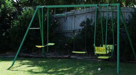 swing set 80 s 90 s toys memories metals - 90s Swing Set