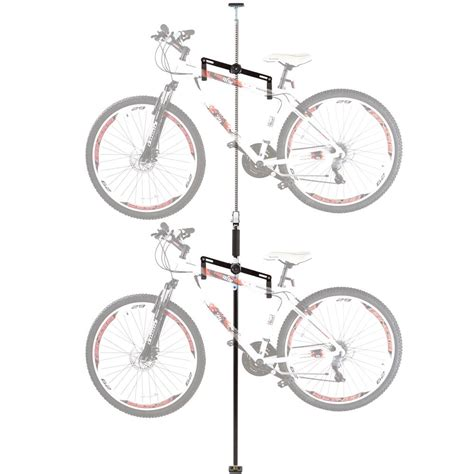 Bicycle Hanger Ceiling by 2 Bike Vertical Tension Bicycle Storage Stand Discount Rs