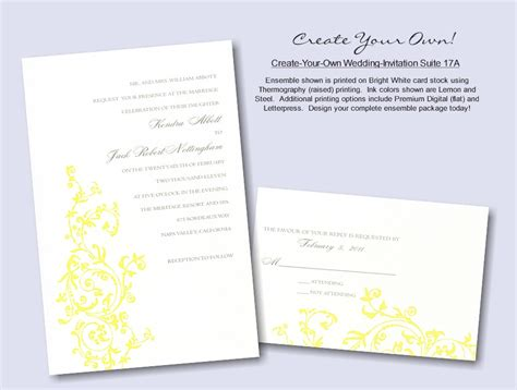 make your own wedding invitation create your own wedding invitation suite 17a