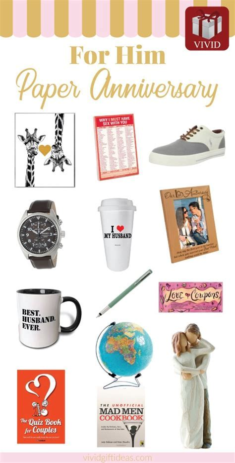 25 Paper Anniversary Gift Ideas for Him   Vivid's