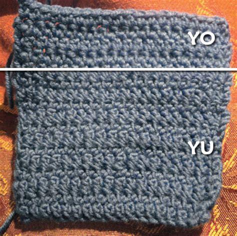 what does yo in knitting planetjune by june gilbank 187 yarn vs yarn