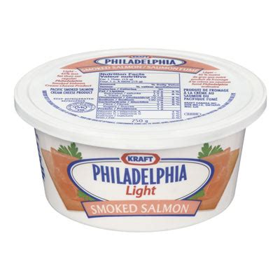 philadelphia 250 gr cheese light smoked salmon 1 tub
