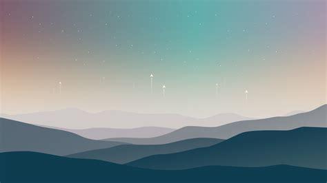 wallpaper landscape minimal stars cold hd