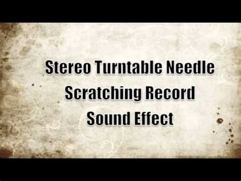 tattoo needle sound effect stereo turntable needle scratching record sound effect