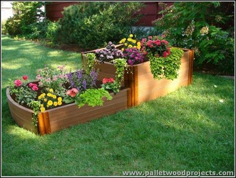 pallet flower bed pallet raised garden beds pallet wood projects