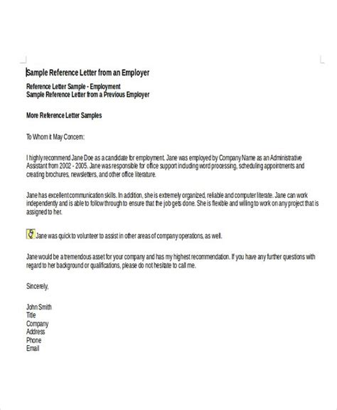 Reference Letter For Departing Employee image result for template reference letter for employee reference letter templates