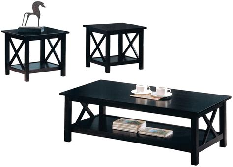 Coffee Tables Black Wood Black Wood Coffee Table Set Steal A Sofa Furniture