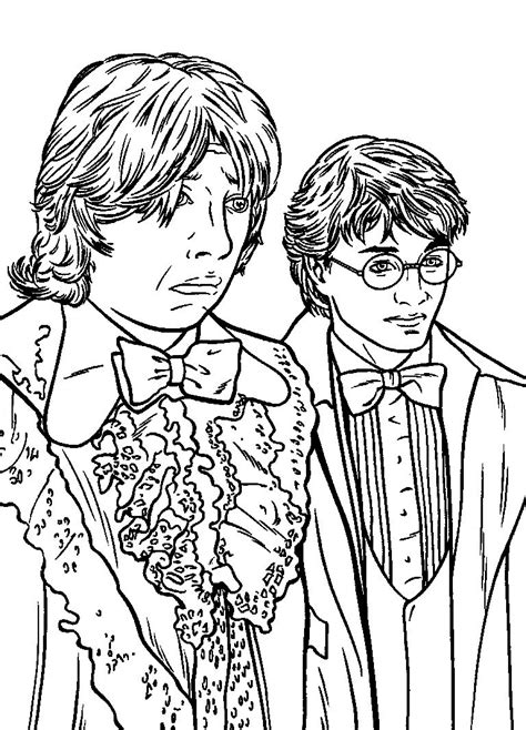 harry potter and weasley harry potter coloring pages