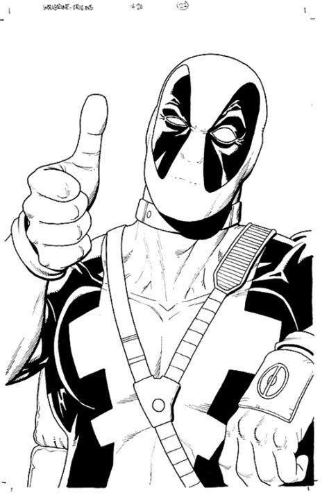 deadpool coloring pages for adults deadpool coloring page superheroes coloring pages