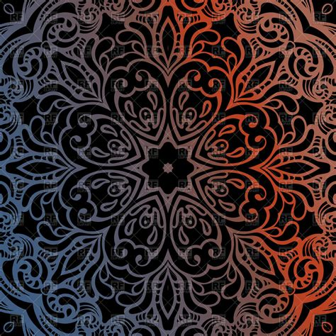 indian pattern vector ai decorative mandala on black background indian pattern