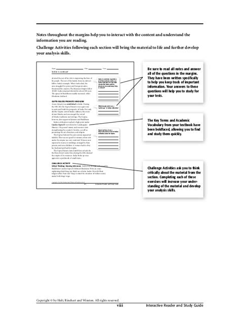 Printables Of Holt Rinehart And Winston Worksheet Answers