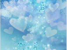 SoftFlower (5) | The Musaka Wallpapers Blue Heart Background Wallpaper